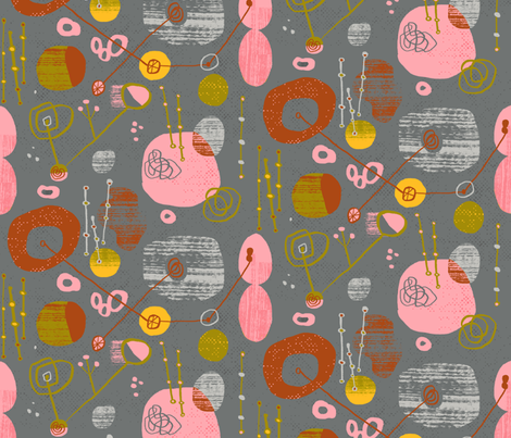 lava lamp broke fabric by skbird on Spoonflower - custom fabric