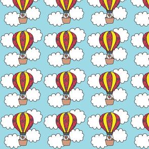 Guinea pig in a Hot air Ballon