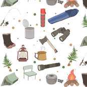 Hand Drawn New Zealand Camping Illustrations