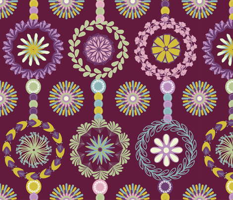Round Garden fabric by aralma on Spoonflower - custom fabric