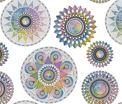 Circles of Triangles fabric by elizabeth_chia on Spoonflower - custom fabric