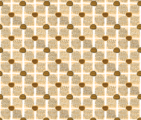 Abstract Geometric Doodle Grid fabric by limolida on Spoonflower - custom fabric