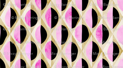 Circles Deconstructed in pink & black