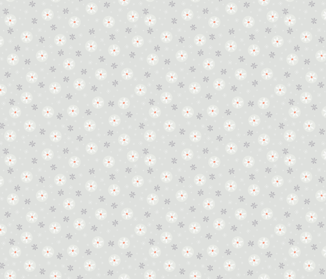 Festive Christmas Snowflakes fabric by limolida on Spoonflower - custom fabric