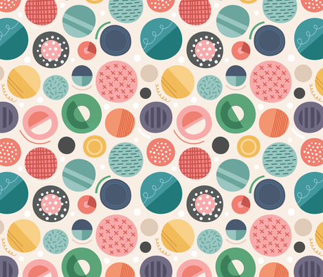 Circles fabric by la_fabriken on Spoonflower - custom fabric
