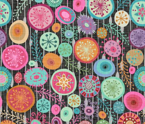 Mod Circles fabric by fernlesliestudio on Spoonflower - custom fabric