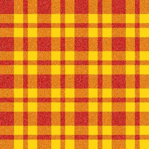 CD15 - Golden Yellow and Glowing Red Speckled Plaid