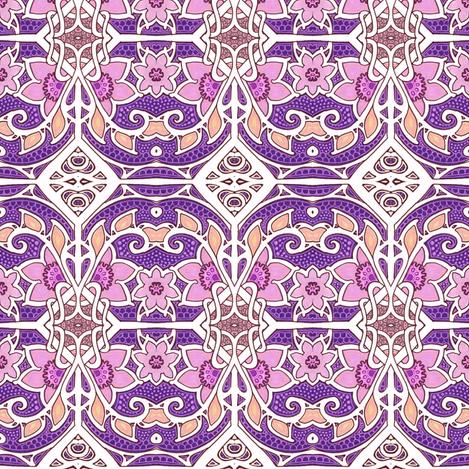 Happy Purple Gardening fabric by edsel2084 on Spoonflower - custom fabric