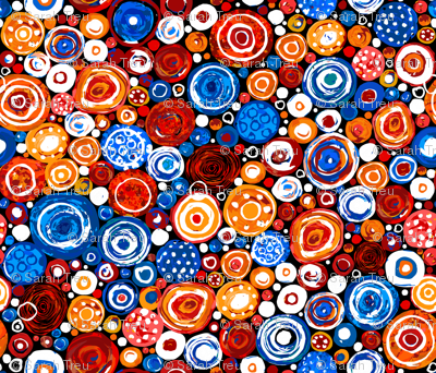 Lost Marbles-Blue & Red