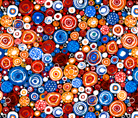 Lost Marbles-Blue & Red fabric by sarah_treu on Spoonflower - custom fabric