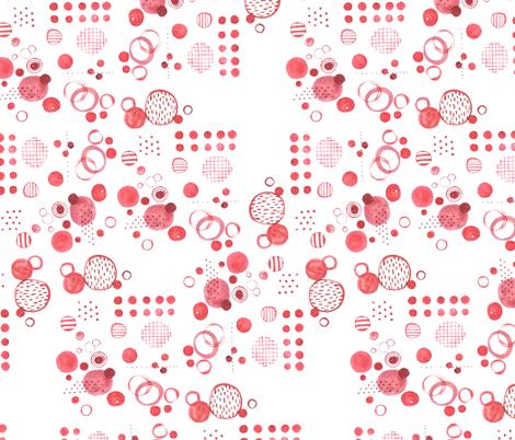 Red Paint Polka fabric by mrshervi on Spoonflower - custom fabric