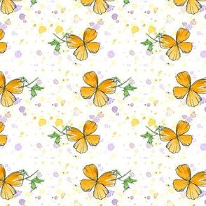 California Poppy Dot