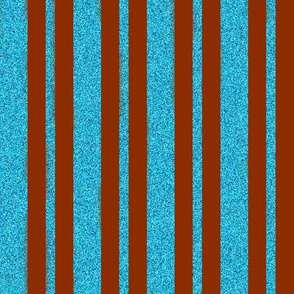 CD17 - Russet Apricot and Speckled Blue Stripes
