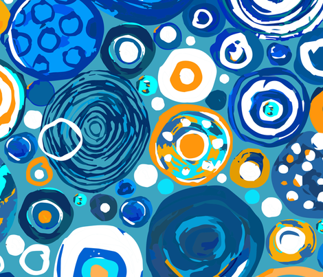 Lost Marbles Blue & Yellow-Jumbo fabric by sarah_treu on Spoonflower - custom fabric