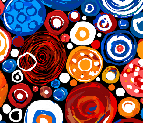 Lost Marbles Blue & Red-Jumbo fabric by sarah_treu on Spoonflower - custom fabric