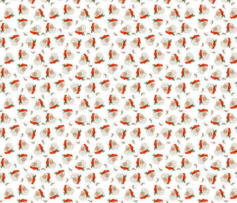 Retro Santa On White fabric by bags29 on Spoonflower - custom fabric