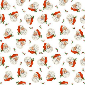Retro Santa On White