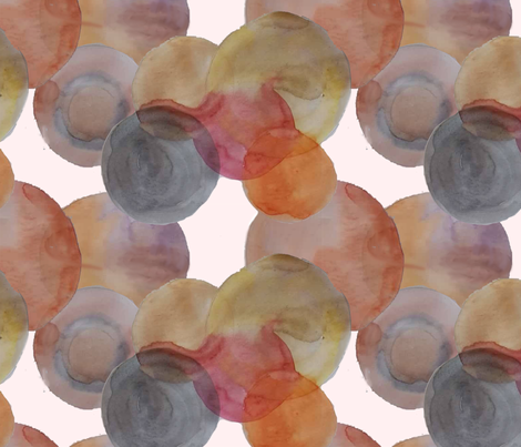 Circle_watercolor fabric by belana on Spoonflower - custom fabric