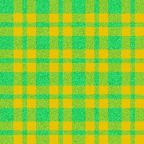 CD18 - Speckled Butterscotch and Pastel Green Plaid