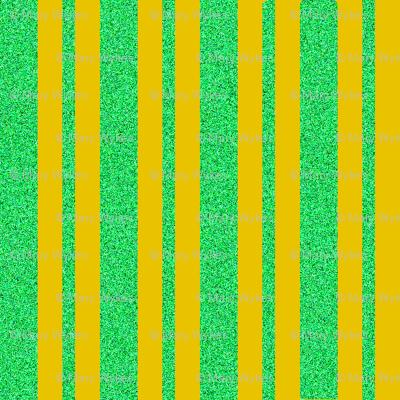 CD18 - Golden Butterscotch and Speckled Pastel Green  Stripe on Butterscotch