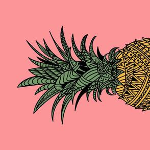 Pineapple Wrap - pink tea towel