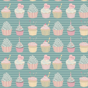 Charlie Cupcakes - Blue