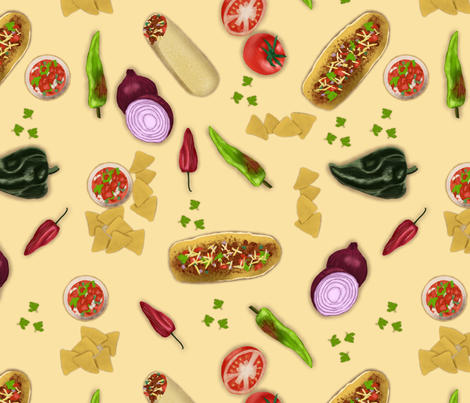 Taco Tuesday fabric by ninakohl on Spoonflower - custom fabric