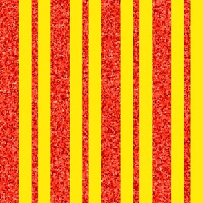 CD43 - Speckled Orange and Vibrant Yellow Stripes