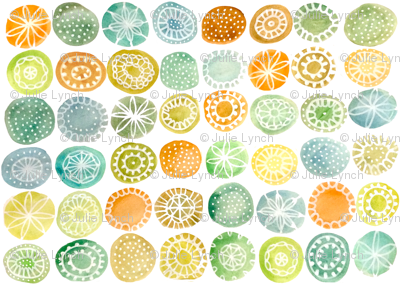 patterned watercolour circles