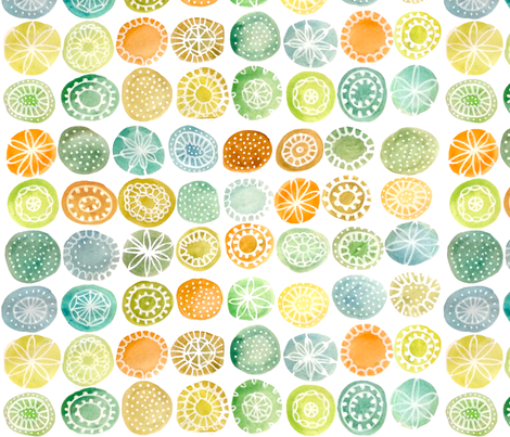 patterned watercolour circles fabric by cjldesigns on Spoonflower - custom fabric