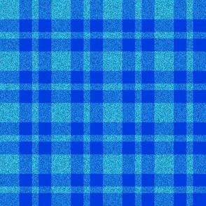 CD44 - Pastel Blue Sparkle and Cobalt Blue Plaid