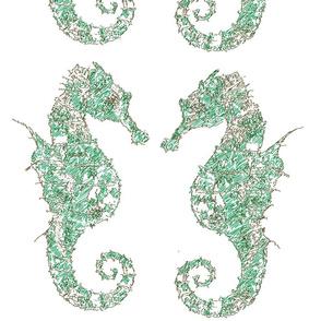 seahorse green large