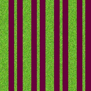 CD19 - Lime Green Sparkle stripe on burgundy