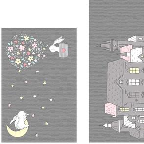 Goodnight Mr Rabbit - Pillow Panel