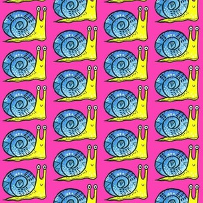 Snail on Hot Pink