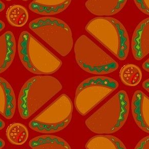Spicy hot taco pattern.