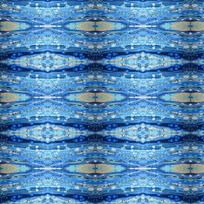 Blue pour art