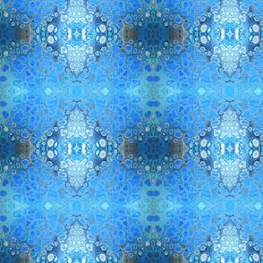Blue pour flow art