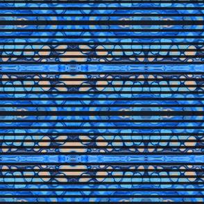 Blue pour black stripe