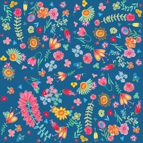 delicious floral navy blue