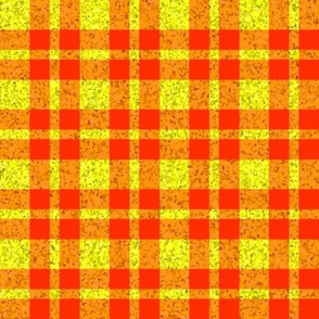CD45 -  Speckled Yellow and Orange Tartan Plaid