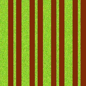 CD46  - Speckled Neon Green and Rusty Brown Stripes