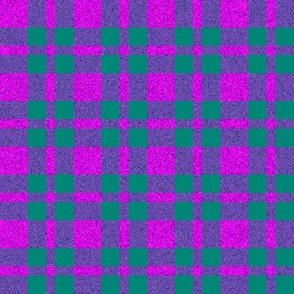 CD21 - Speckled Fuchsia - Purple -  Turquoise Tartan Plaid