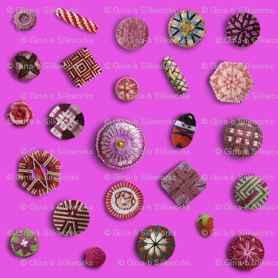 Buttons! Pink Passementerie