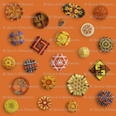 Buttons! Orange Passementerie