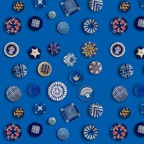 Buttons! Blue Passementerie