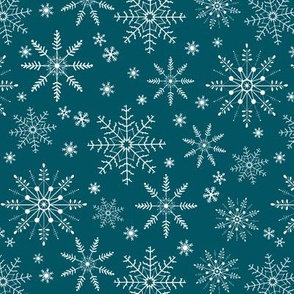 Snowflakes - teal