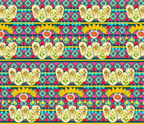 Mexican Food fabric by blue_banana_patterns on Spoonflower - custom fabric