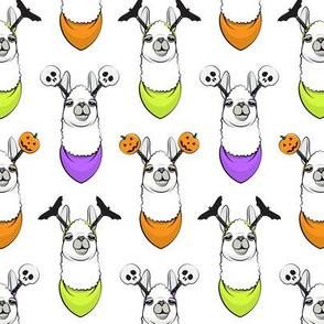 halloween loving llamas w/ headbands