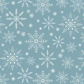 Snowflakes - blue pond